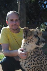 Joe with Cheetah