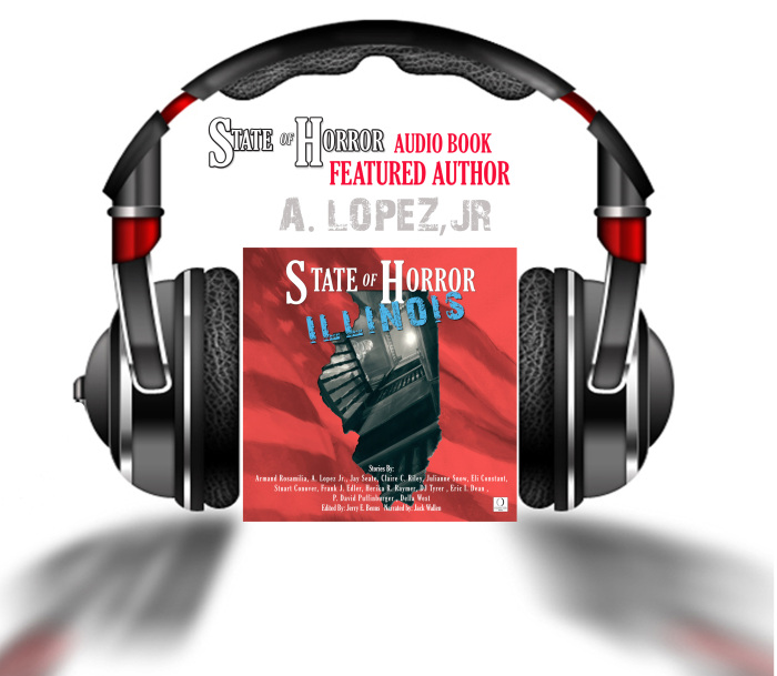 Audio book feature author A. Lopez, Jr.