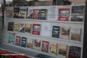 My books in the window...